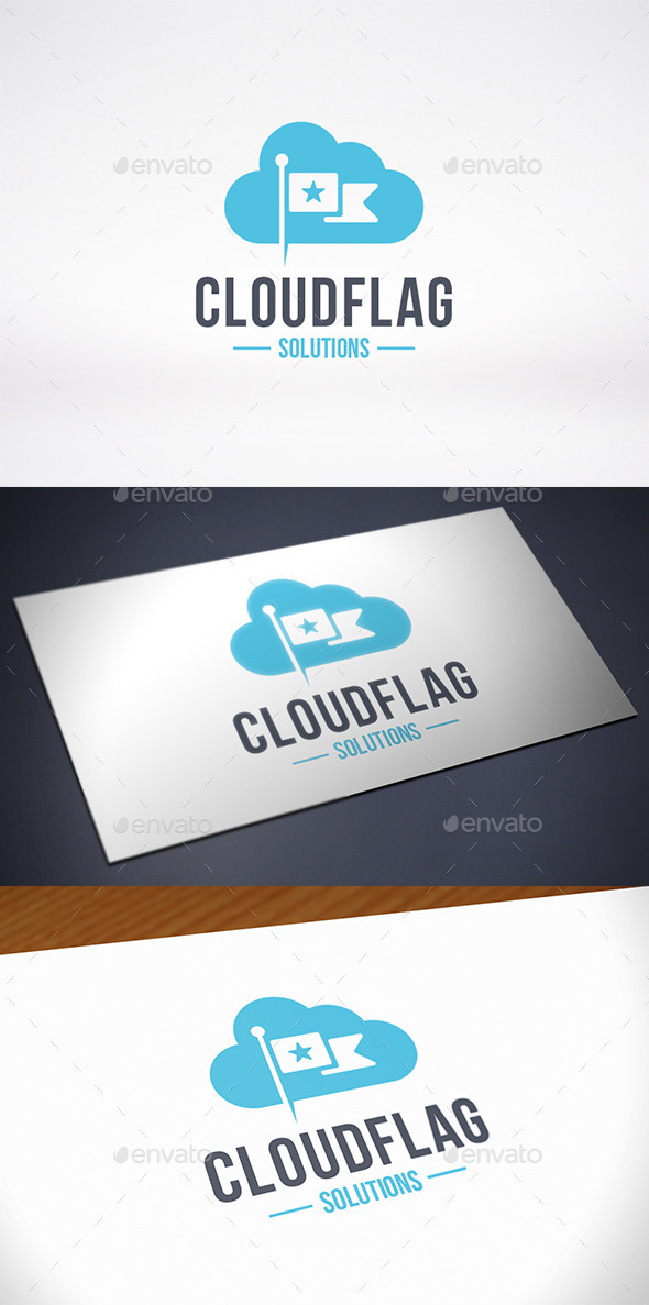 Cloud Flag Logo Template - Symbols Logo Templates
