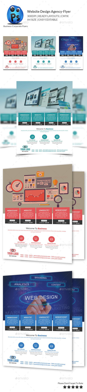 Website Design Agency Flyer - Flyers Print Templates