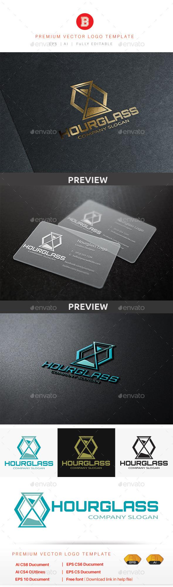 Hourglass Logo - Objects Logo Templates