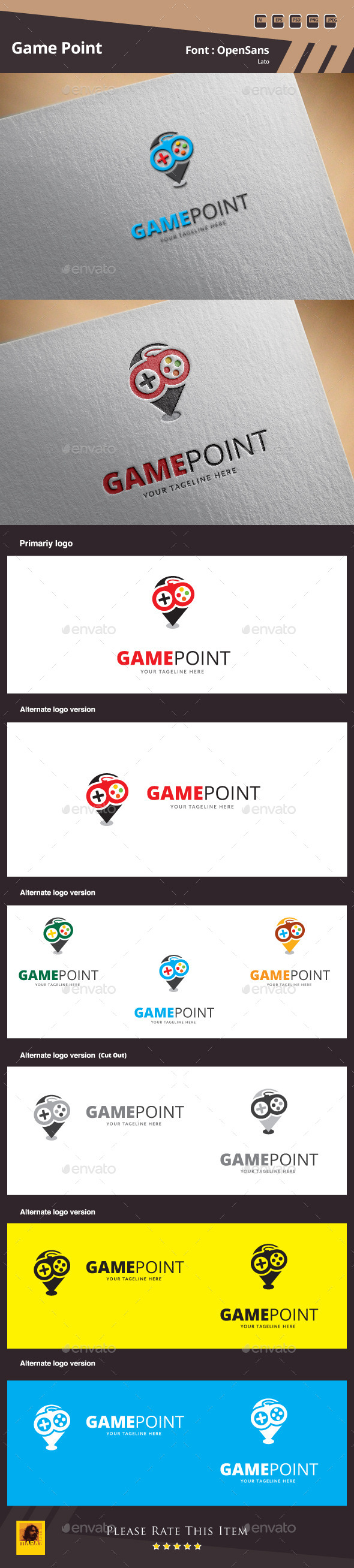 Game Point Logo Template - Objects Logo Templates