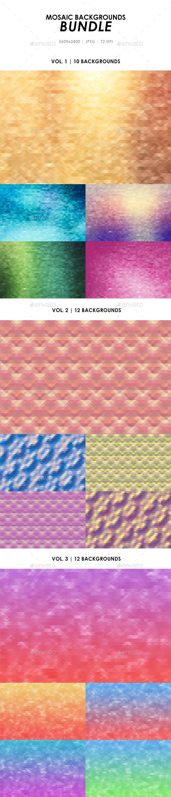 Mosaic Backgrounds Bundle - Miscellaneous Backgrounds