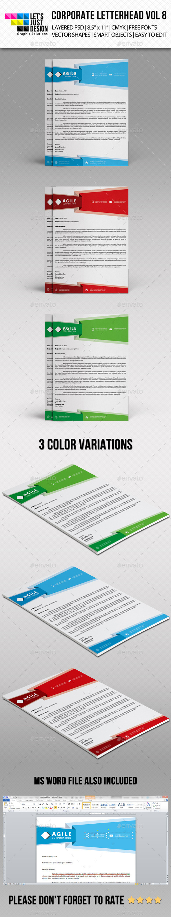 Corporate Letterhead Vol 8 - Stationery Print Templates