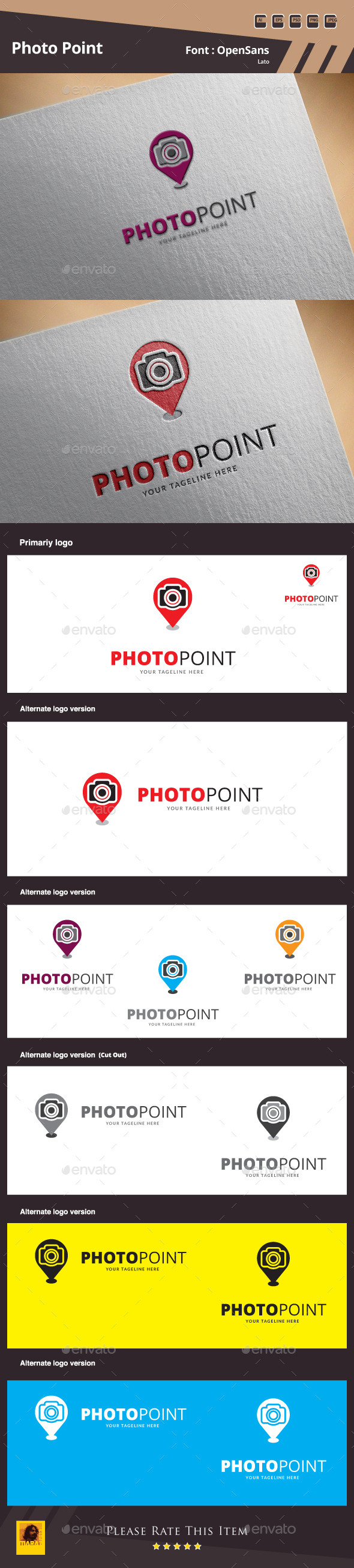 Photo Point Logo Template - Objects Logo Templates