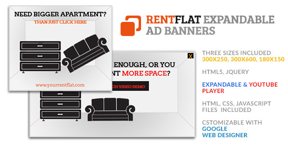 Rent Flat Home Expandable GWD HTML5 Ad Banner - CodeCanyon Item for Sale