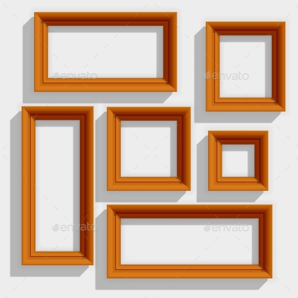 Wooden Brown Picture Frames - Borders Decorative