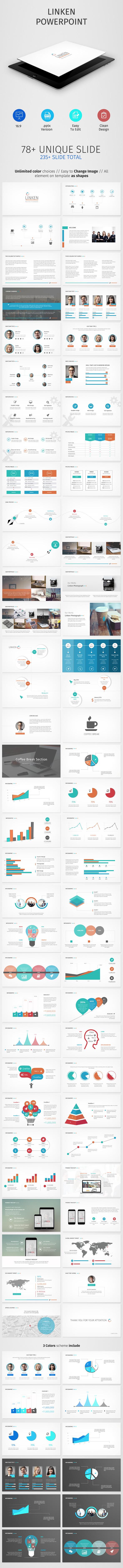 Linken Powerpoint Presentation - Business PowerPoint Templates