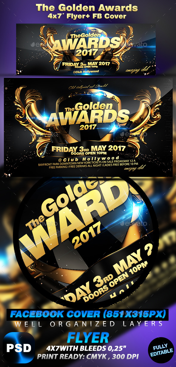 The Golden Awards - Events Flyers