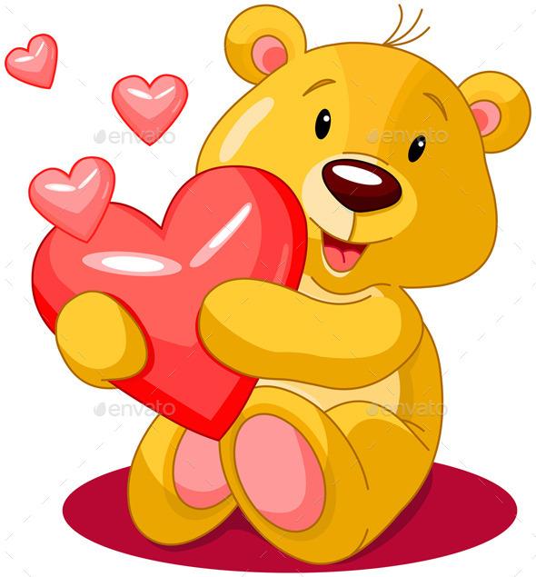 Valentine Day Bear - Valentines Seasons/Holidays