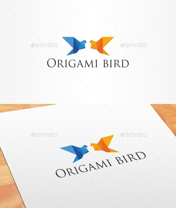 Origami Bird Logo Template - Animals Logo Templates