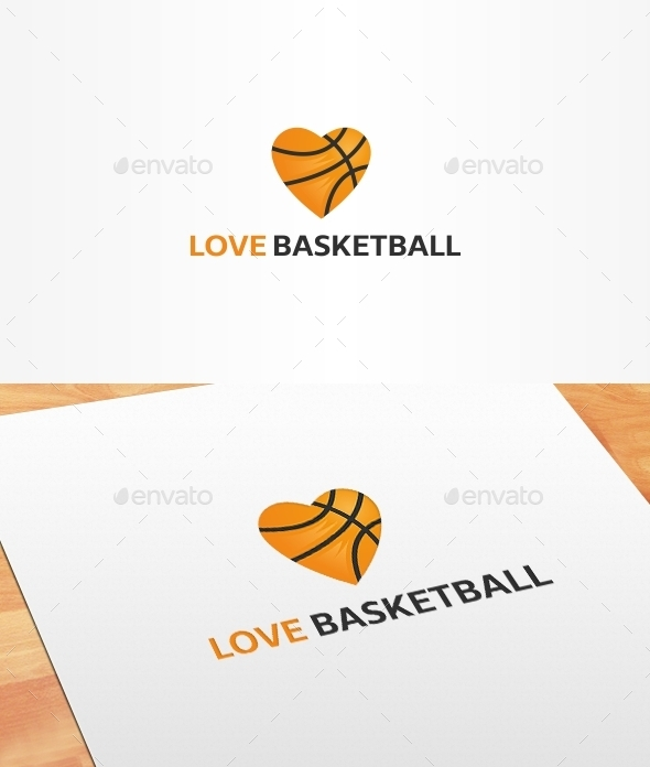 Love Basketball Logo Template - Symbols Logo Templates