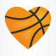 Love Basketball Logo Template