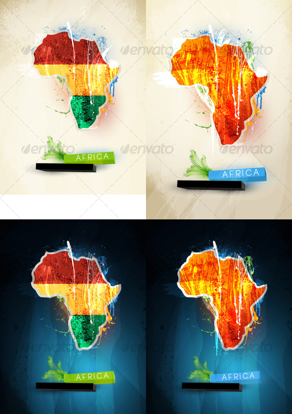 Abstract illustration of the continent Africa - Travel Conceptual