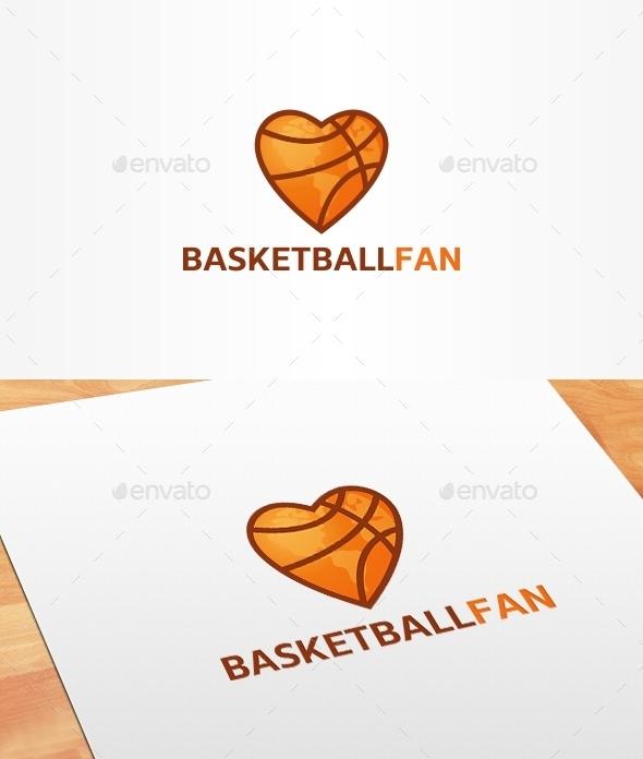 Basketball Fan Logo Template - Symbols Logo Templates
