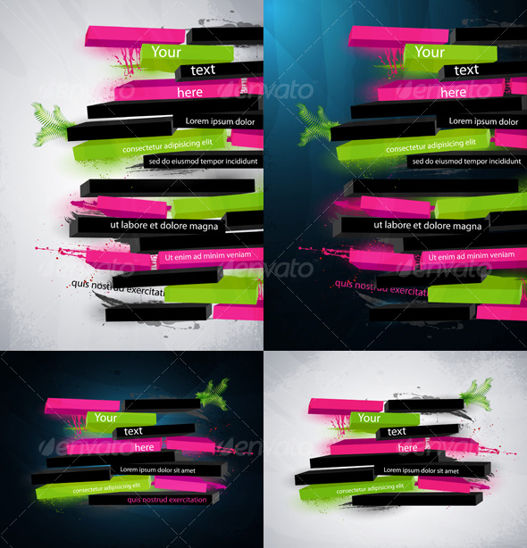 Abstract vector graphic, banner in graffiti style - Abstract Conceptual