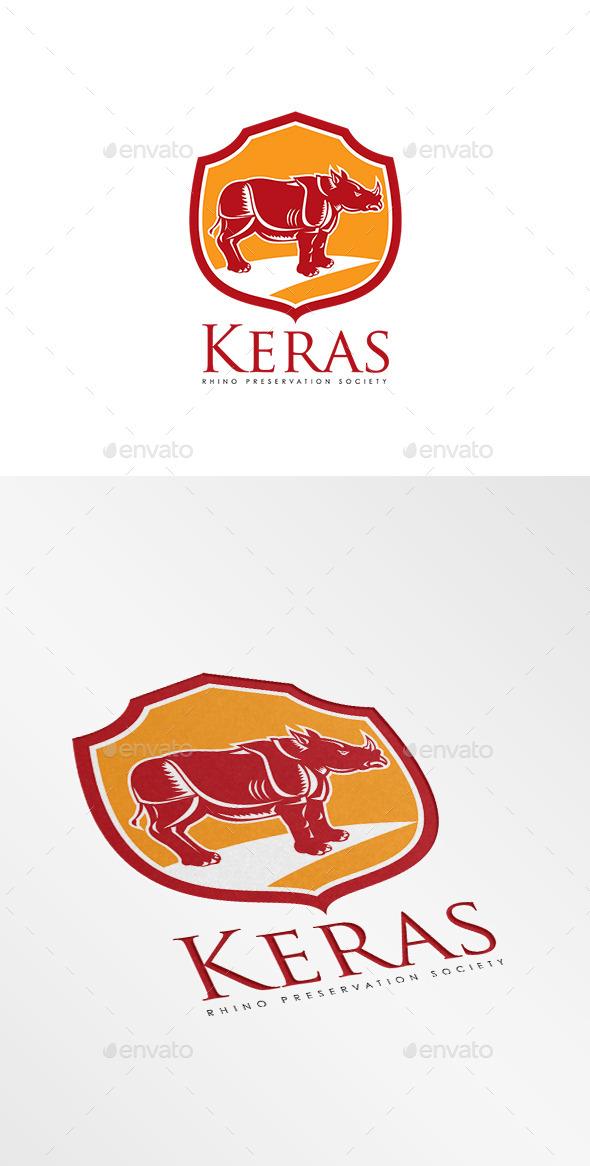 Keras Rhino Preservation Logo - Animals Logo Templates