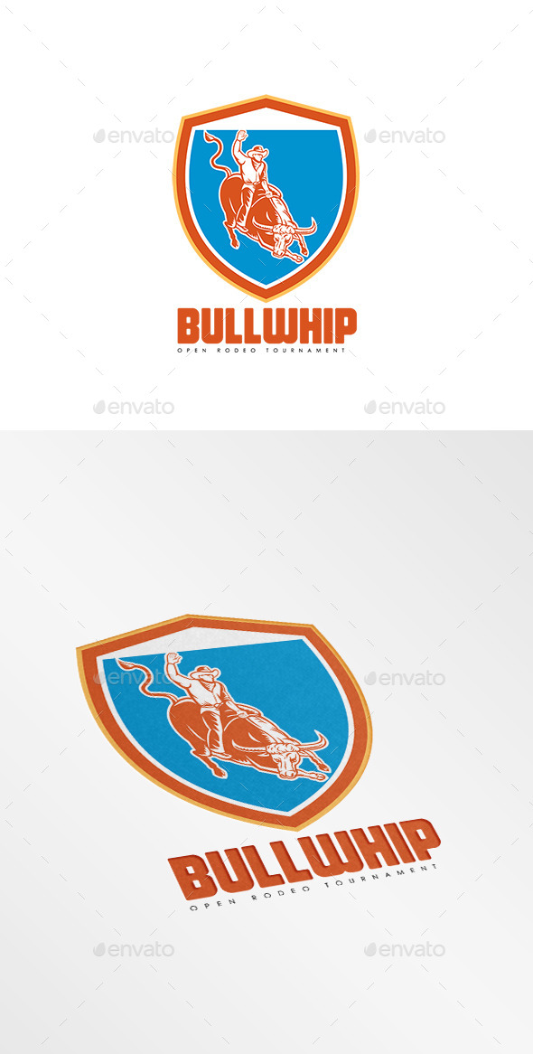 Bullwhip Open Rodeo Tournament Logo - Humans Logo Templates