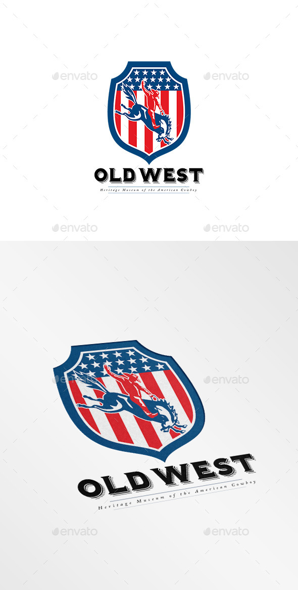 Old West American Cowboy Museum Logo - Humans Logo Templates