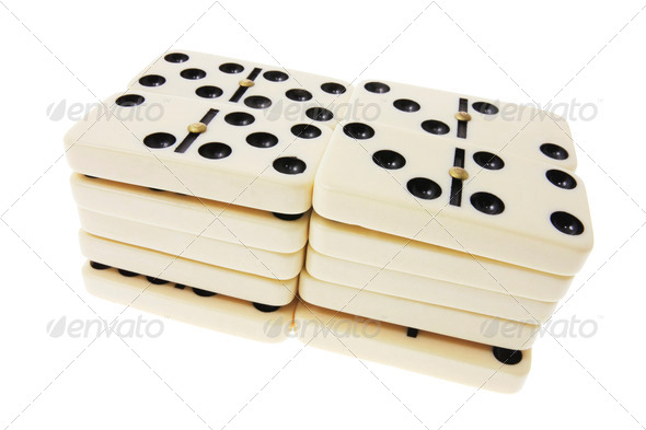 Stacks of Dominoes - Stock Photo - Images
