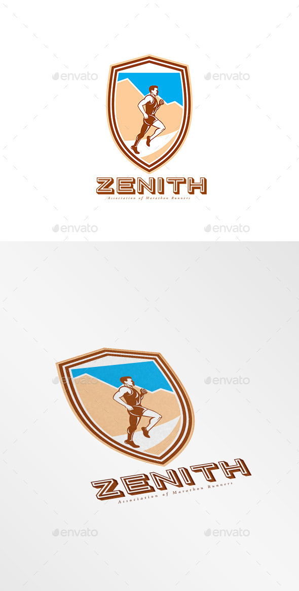 Zenith Marathon Runners Association Logo - Humans Logo Templates