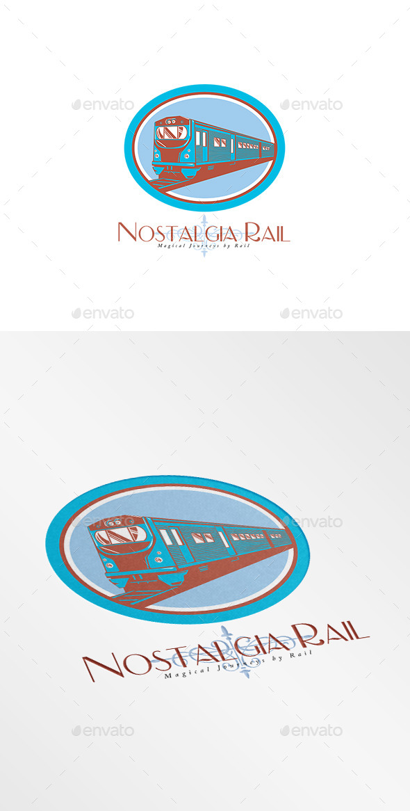 Nostalgia Rail Journey Logo - Objects Logo Templates