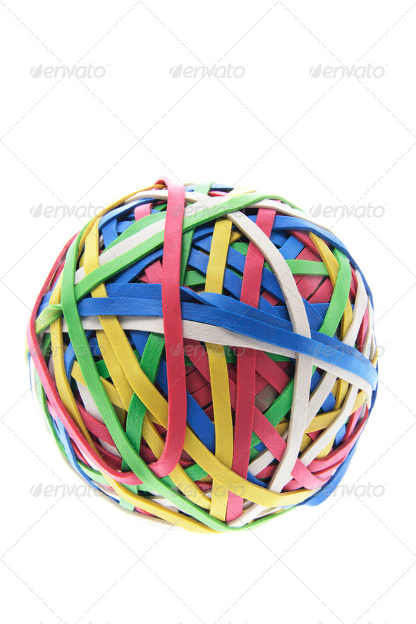 A Ball of Rubber Bands - Stock Photo - Images