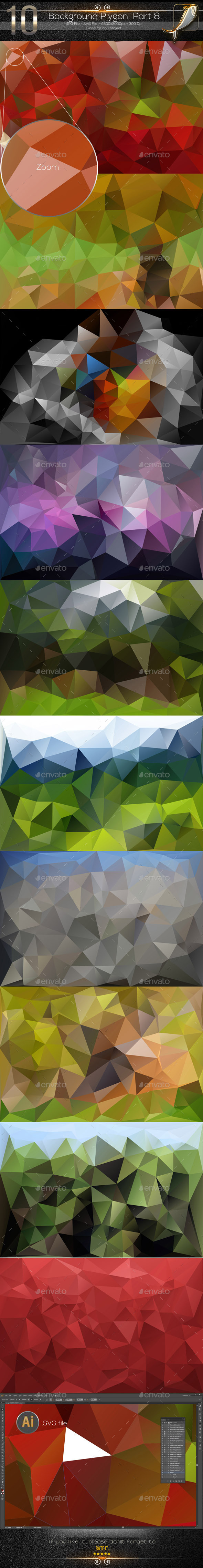 10 Backgrounds Polygon Part 8 - Abstract Backgrounds