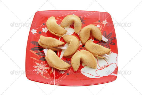 Plate of Fortune Cookies - Stock Photo - Images