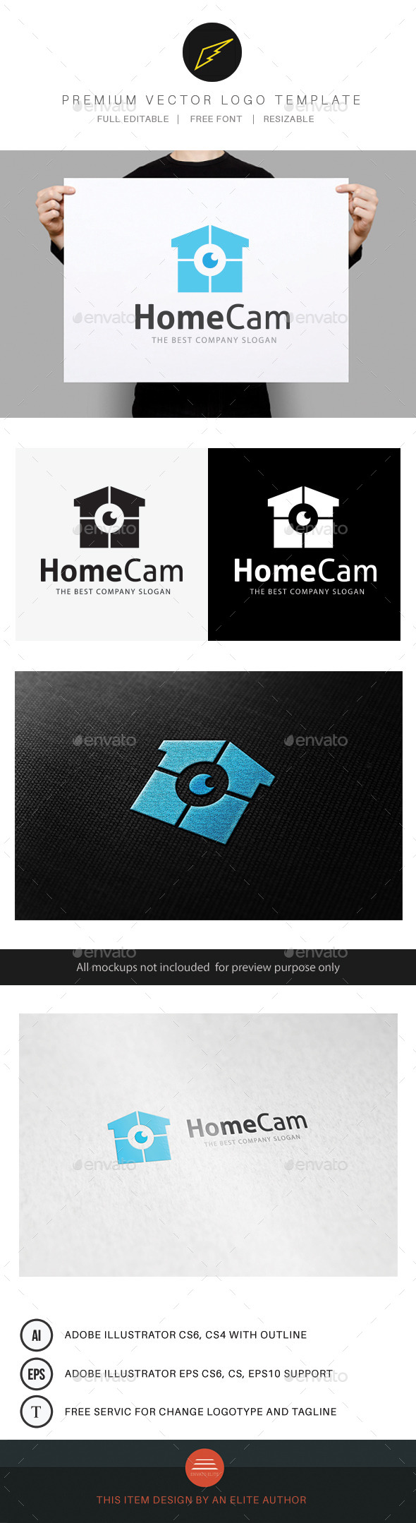 Home Cam - Buildings Logo Templates