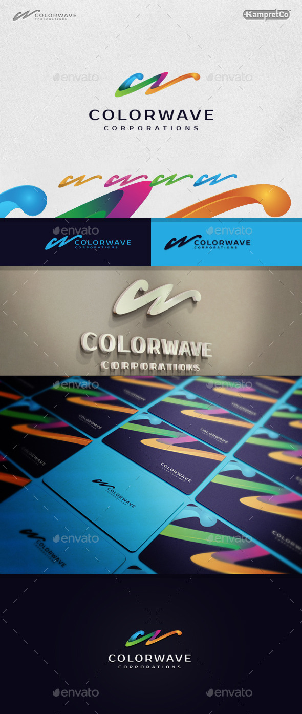Color Wave Logo - Letters Logo Templates