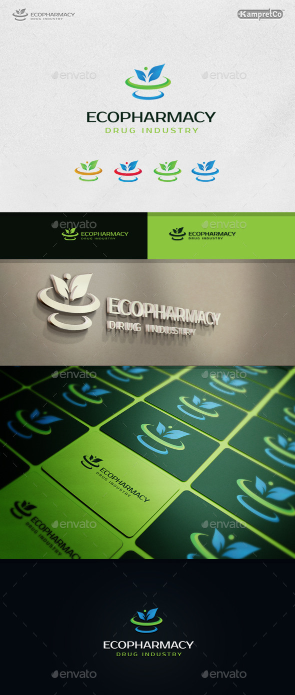 Eco Pharmacy Logo - Nature Logo Templates
