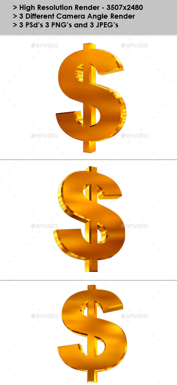Dollar - 3D Renders Graphics