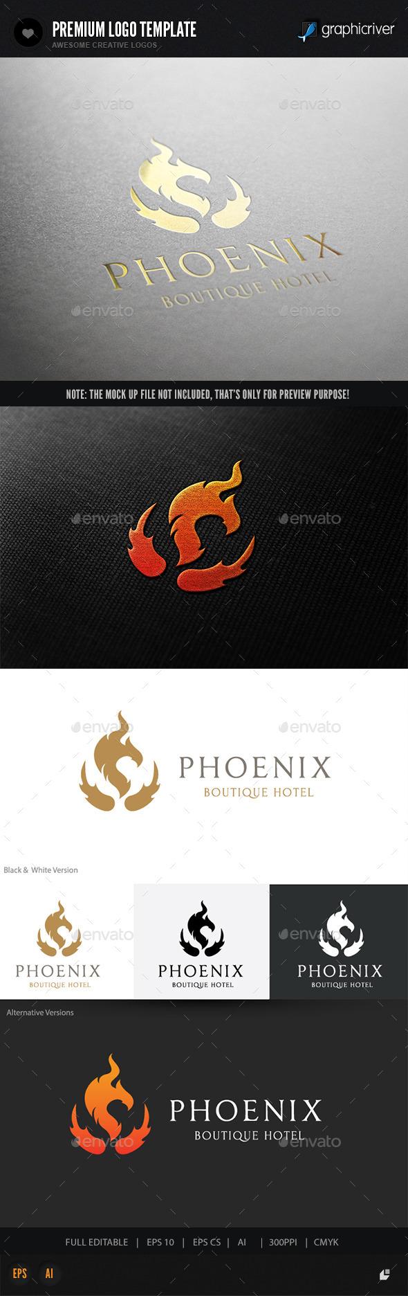 Phoenix Boutique Hotel - Crests Logo Templates