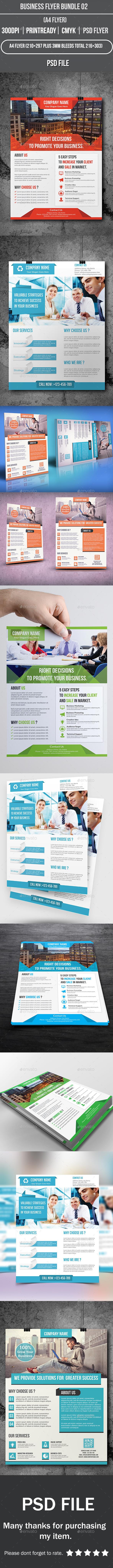 Business Flyer Bundle 02 - Corporate Flyers