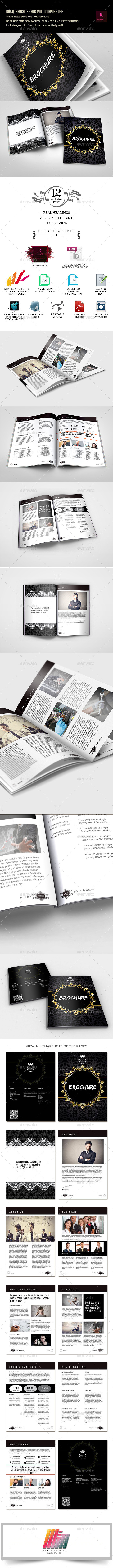 Royal Multipurpose Brochure Template for Business  - Informational Brochures
