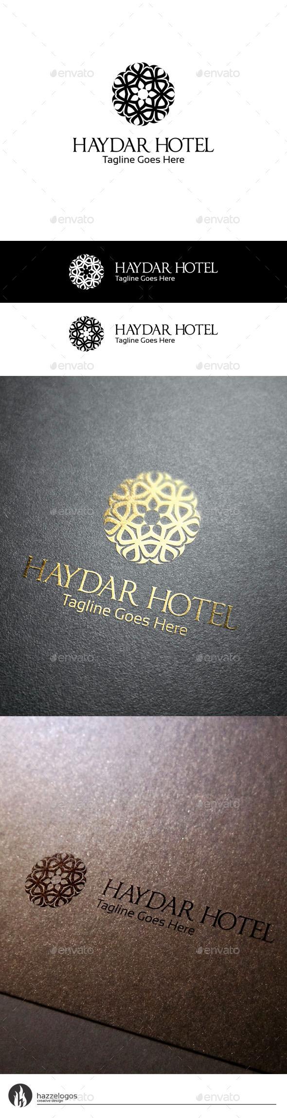 Haydar Hotel Logo - Crests Logo Templates