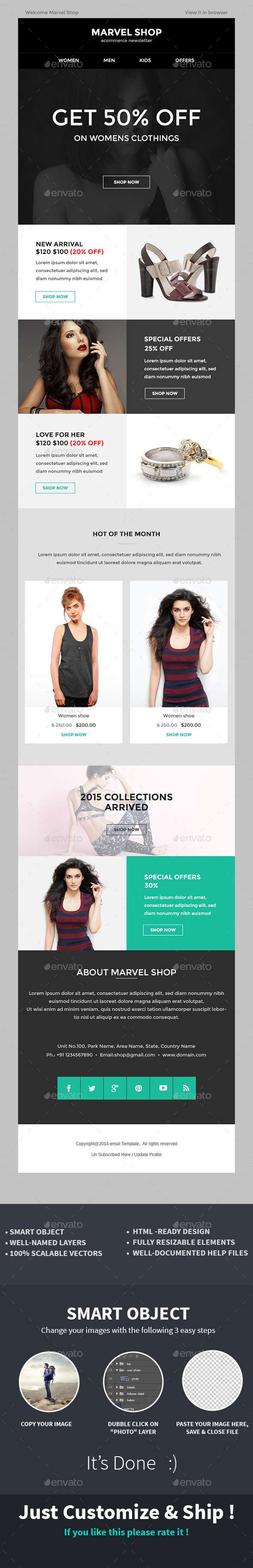 E-commerce Special Offer Newsletter PSD Template - E-newsletters Web Elements