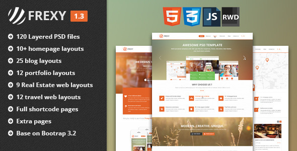 Frexy - Responsive Multi-purpose HTML5 Template - Corporate Site Templates
