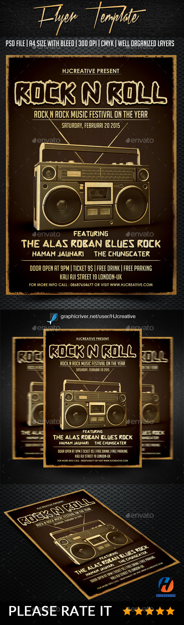 Rock n Roll Poster Flyer Vol. 1 - Events Flyers