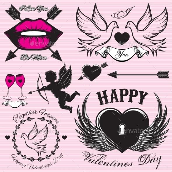 Valentine Symbols - Valentines Seasons/Holidays
