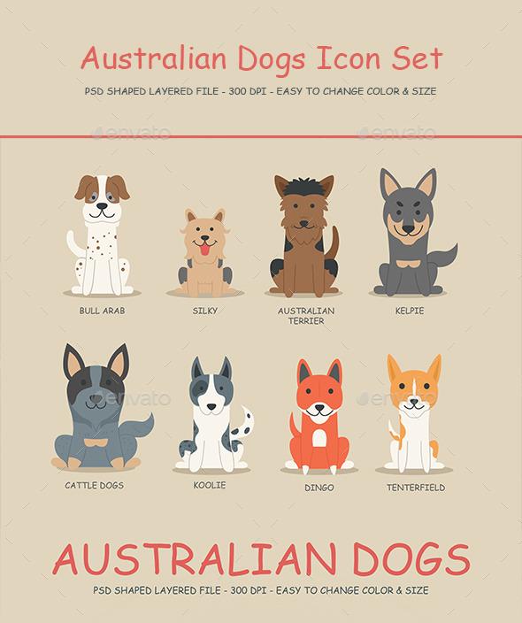 Australian Dogs Icon set 01 - Icons