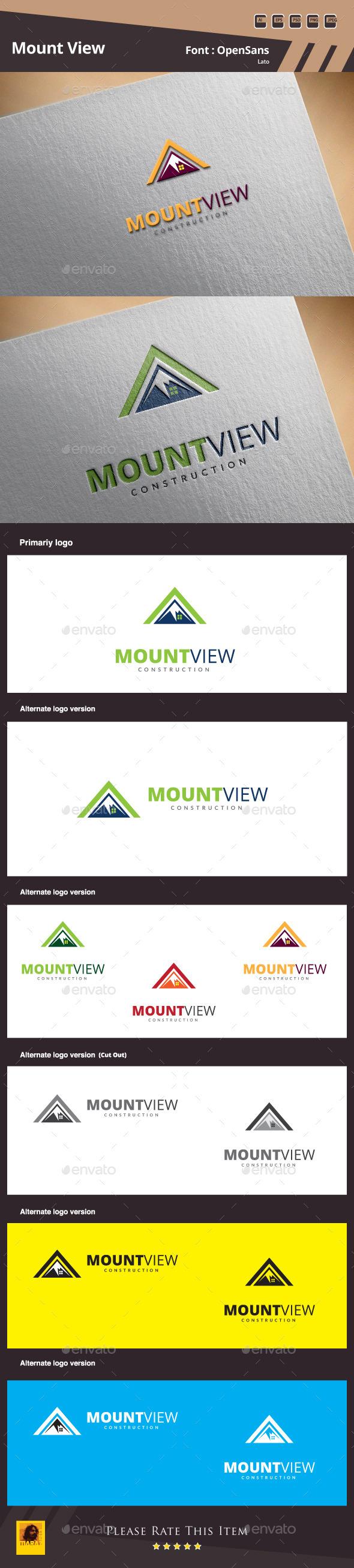 Mount View Logo Template - Buildings Logo Templates