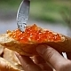 Red Caviar on French Bread  - VideoHive Item for Sale