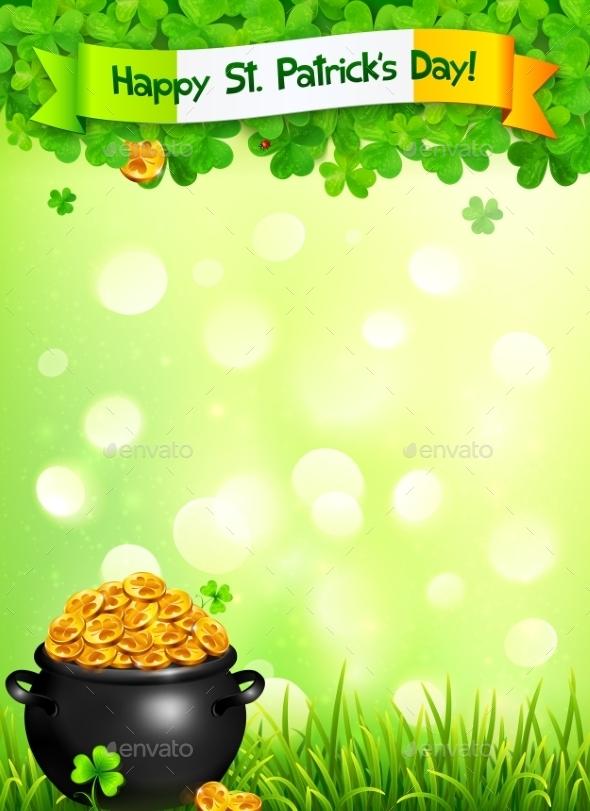 St. Patricks Day Leaflet - Decorative Symbols Decorative
