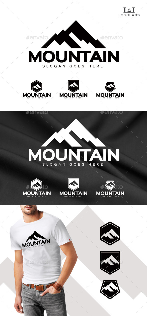 Mountain Logo - Nature Logo Templates