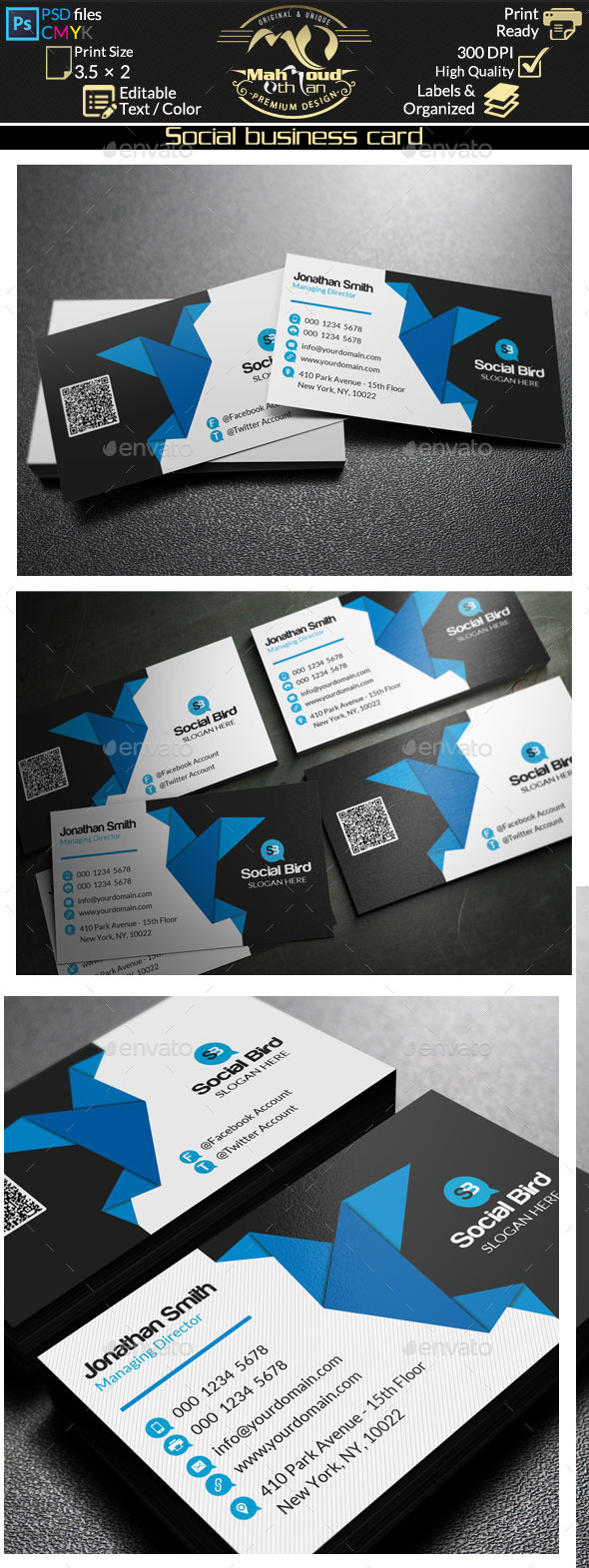 Social Media Business Card 72 - Creative Business Cards