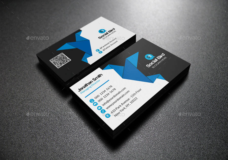 social media business card 72 by far star60 graphicriver. Black Bedroom Furniture Sets. Home Design Ideas