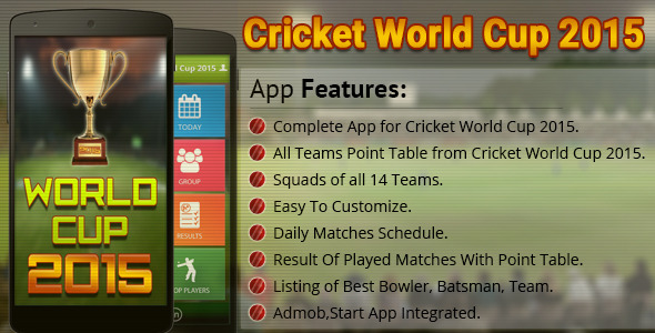 Cricket World Cup - 2015 - CodeCanyon Item for Sale