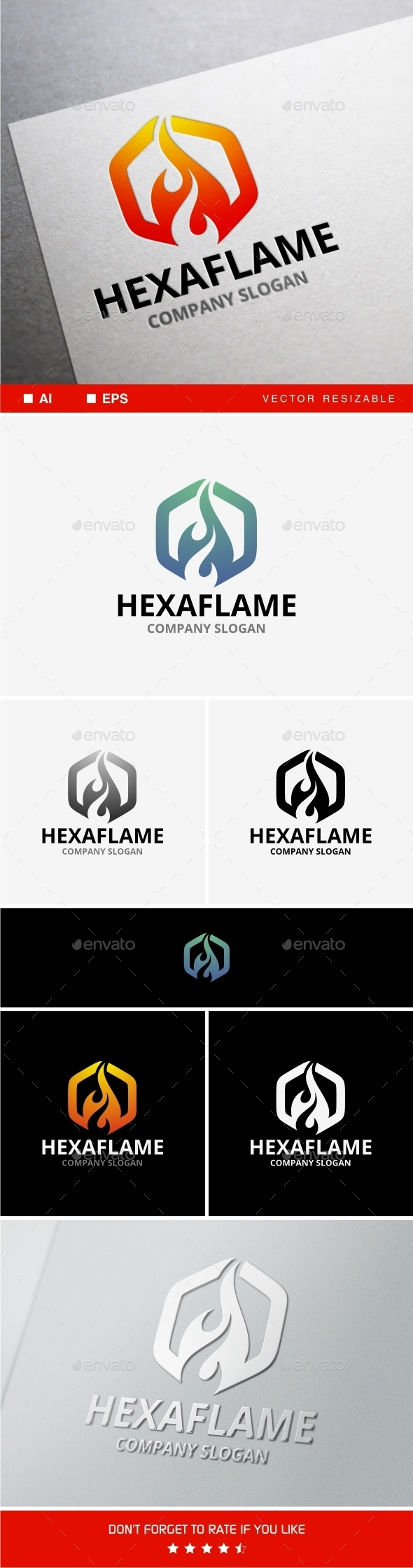 Hexaflame - Objects Logo Templates
