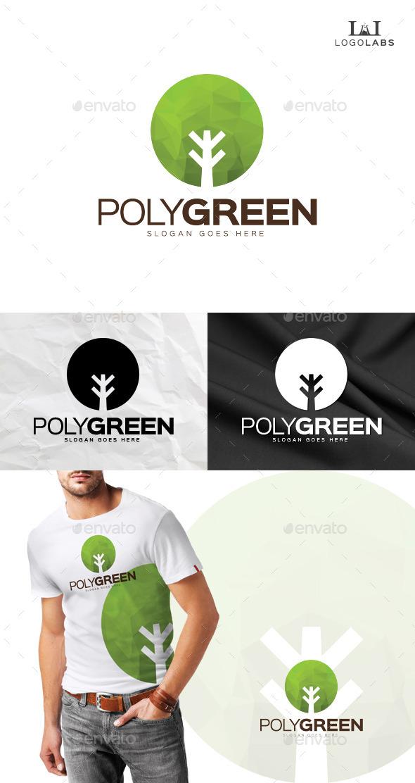 Poly Green Logo - Nature Logo Templates