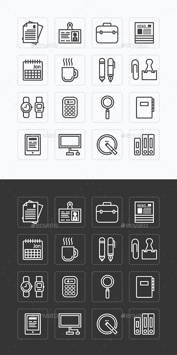 Business Icons Set Modern Flat Icons  - Business Icons
